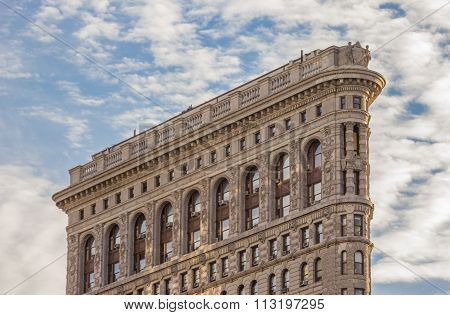 Side View Of The Flatiron Building In New York City