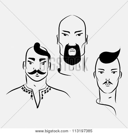 Three characters of Ukrainian Cossacks
