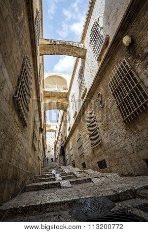 Steep Street Of Jerusalem