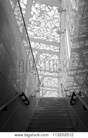 Staircase At The Qatar Education City Graduation Arena