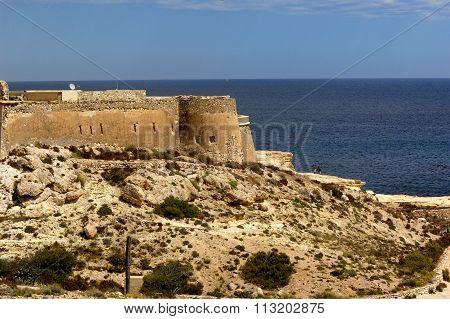 Castle Of San Felipe, Cabo De Gata, Natural Park, Almeria Province, Andalucia