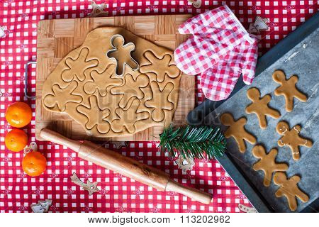 Christmas gingerbread cookies on Xmas eve
