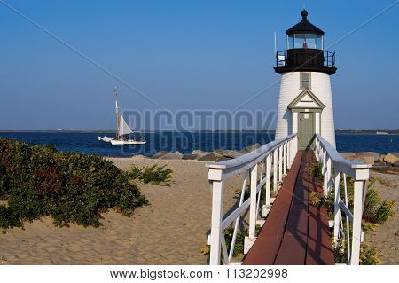 Brant Point Light on Nantucket Island
