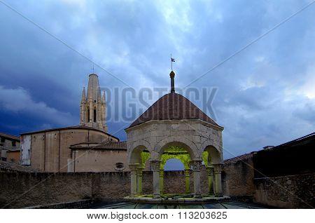 Arab Baths And Sant Feliu Church