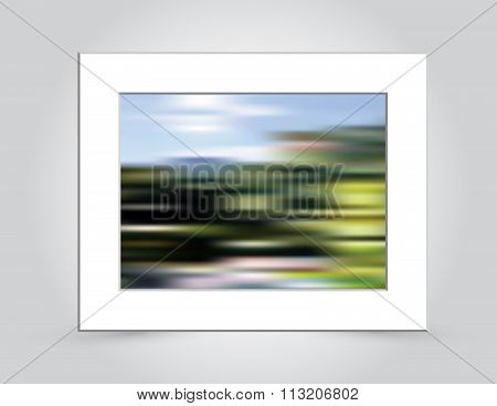 Mountain Colors Abstract Blur In Mat Frame
