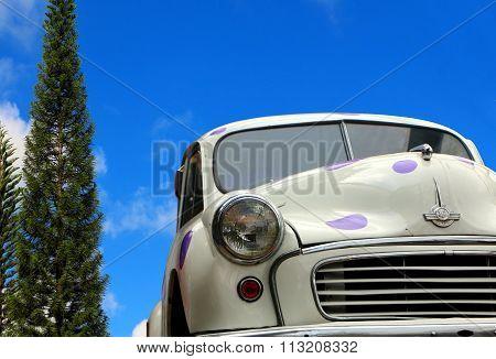 Retro car on the street