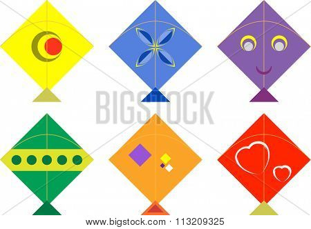 Kite Design Collection Vector Illustration