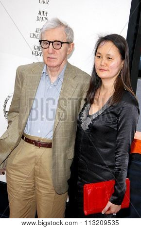 Woody Allen and Soon-Yi Previn  at the 2012 Los Angeles Film Festival premiere of