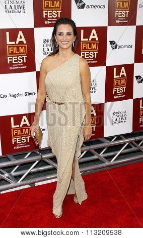 Penelope Cruz at the 2012 Los Angeles Film Festival premiere of
