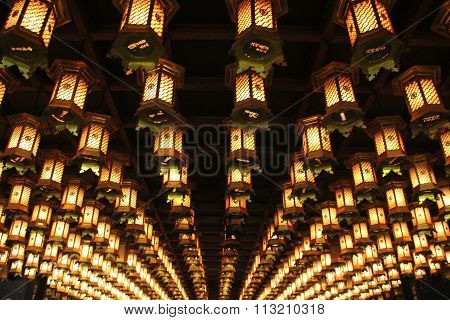 Lanterns on ceiling