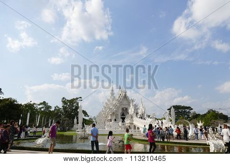 The Tourist Travel To See Beautiful Art And Sculpture Design