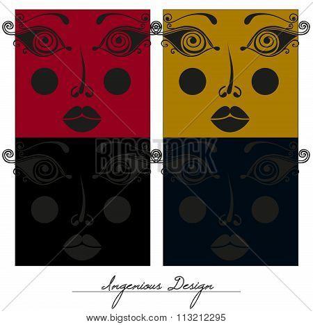Beautiful Faces, Creative Design.