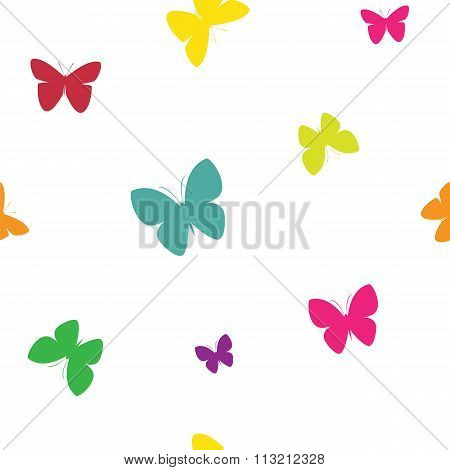 Butterfly Vector Art Background Design For Fabric And Decor. Seamless Pattern