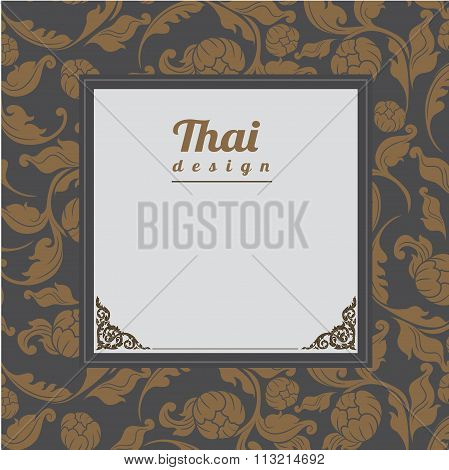 Thai Pattern, Background.vector Illustration