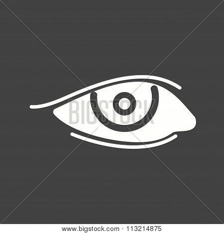 Eye with eyeliner