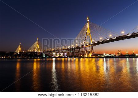 Bhumibol Bridge Or Industrial Ring Road Bridge