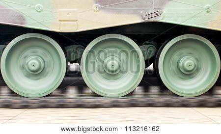 Tanks Wheel Moving Mechanism