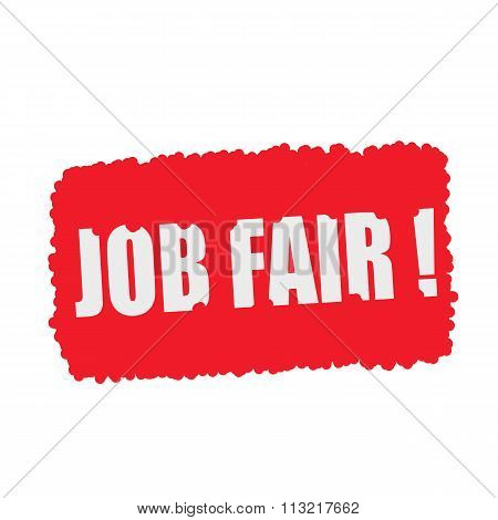Job Fair White Stamp Text On Blood Drops Red Background