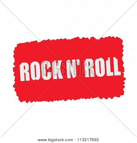 Rock N Roll White Stamp Text On Blood Drops Red Background