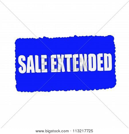 Sale Extended White Stamp Text On Blood Drops Blue Background