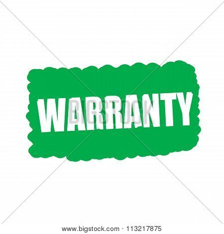 Warranty White Stamp Text On Green Background