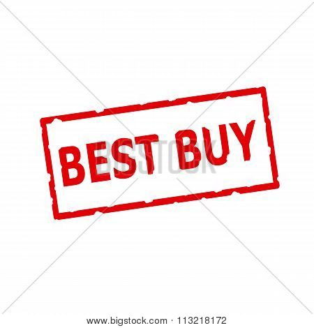 Best Buy Red Stamp Text On Rectangular White Background