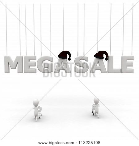3D Mega Sale Concept
