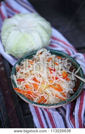 marinade cabbage salad