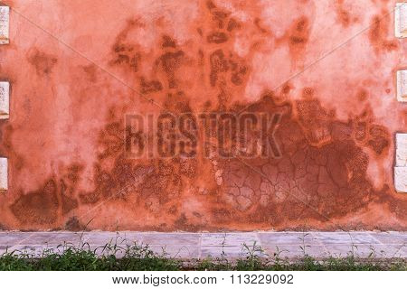 Abstract Background With Stains Of Red Color