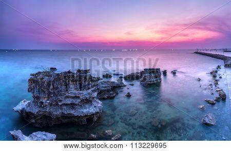Sunset colors Phu Quoc Island