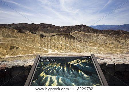 Zabriskie Point, Death Valley, California, Usa