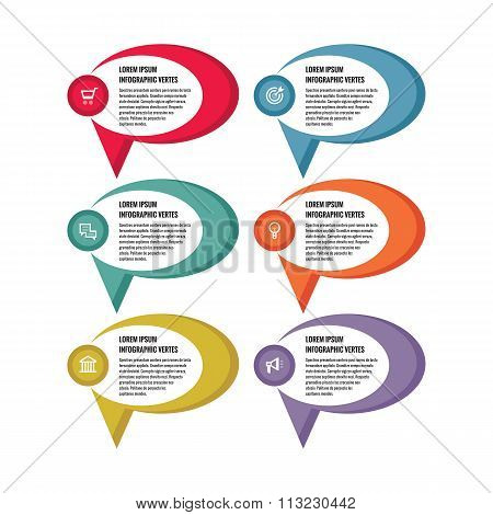Infographic business concept - colored vector banners. Infographic template. Vector icons set.