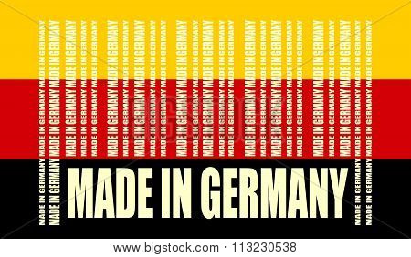 Made In Germany Text And Bar Code From Same Words