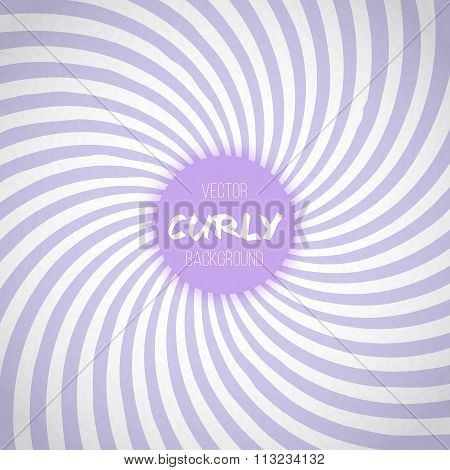Passion Lavender Color Spiral Swirl Background. Purple Waves Cir