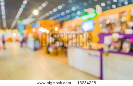 Blurred Image Of People At Trade Show