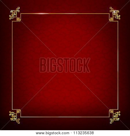 Abstract Dark And Red Background Texture  For Happy Chinese New Year Oriental And Traditional  Wave