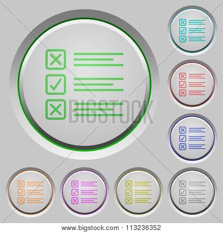 Questionnaire Push Buttons