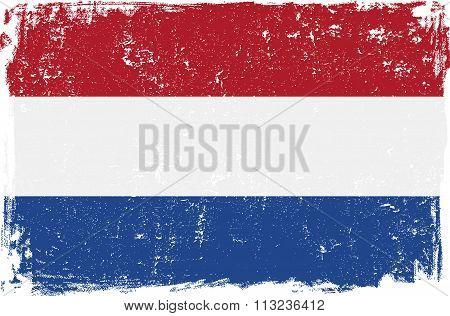 Holland Vector Flag On White