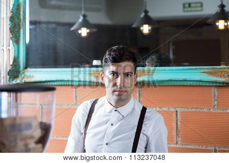 Bartender Looking At Camera