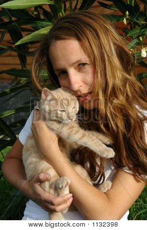 The Young Woman With A Cat