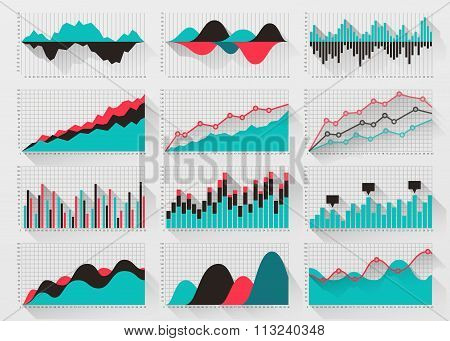 Charts elements for business infographics