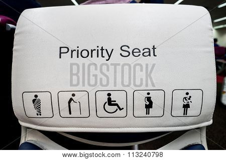 Priority Seats In Airport.