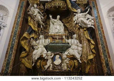 Monument To Pope Gregory Xv (1697) By Monnot