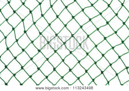 Green Net On White Background