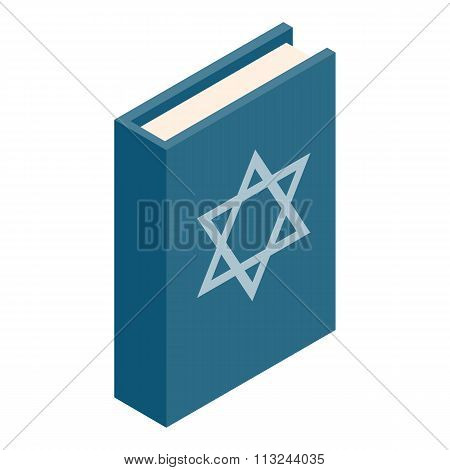 The Book of Judaism isometric 3d icon