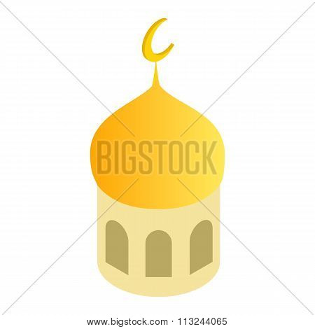 Mosque dome isometric 3d icon