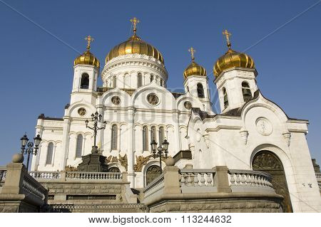 Cathedral of Jesus Christ Saviour in Moscow.