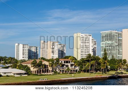 Resort Condos Behind Coastal Houses
