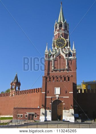 Spasskaya Tower Of Kremlin, Moscow