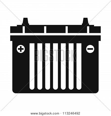 Black flat battery icon